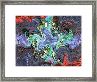 Gilemius V1 - Digital Abstract Framed Print by Cersatti