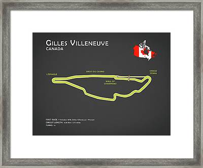 Gilles Villeneuve Framed Print by Mark Rogan