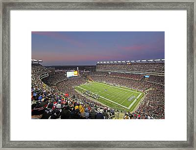 Gillette Stadium And New England Patriots Framed Print by Juergen Roth