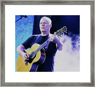 Gilmour Guitar By Nixo Framed Print by Nicholas Nixo