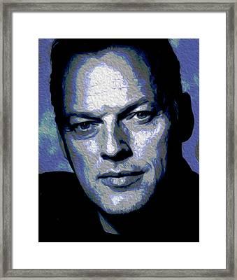 Gilmour Self Nixo Framed Print by Nicholas Nixo