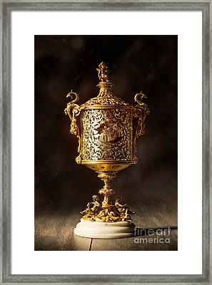Gilt Lantern Framed Print by Amanda And Christopher Elwell