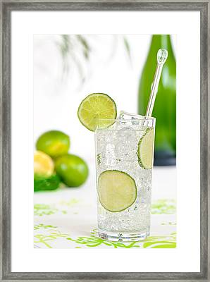 Gin And Tonic Drink Framed Print by Amanda Elwell