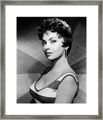 Gina Lollobrigida, Ca. Late 1950s Framed Print by Everett