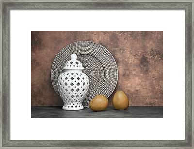 Ginger Jar With Pears I Framed Print by Tom Mc Nemar