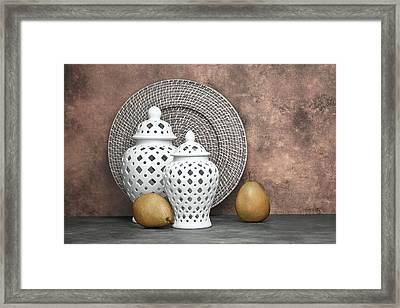 Ginger Jar With Pears II Framed Print by Tom Mc Nemar