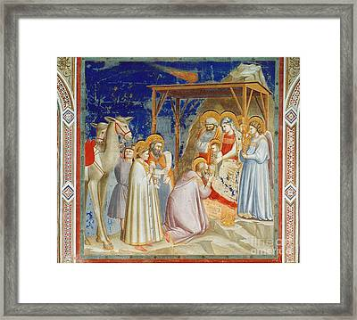 Giotto: Adoration Framed Print by Granger