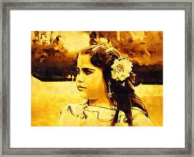 Gipsy Framed Print by Madalena Lobao-Tello