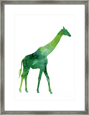 Giraffe African Animals Gift Idea Framed Print by Joanna Szmerdt