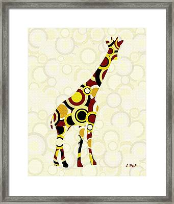 Giraffe - Animal Art Framed Print by Anastasiya Malakhova