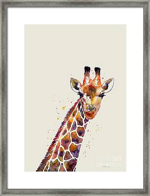 Giraffe Framed Print by Hailey E Herrera