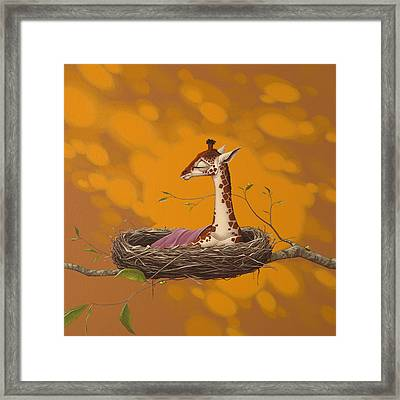 Giraffe Framed Print by Jasper Oostland