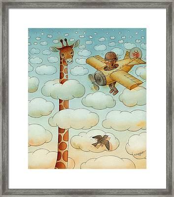 Giraffe Framed Print by Kestutis Kasparavicius