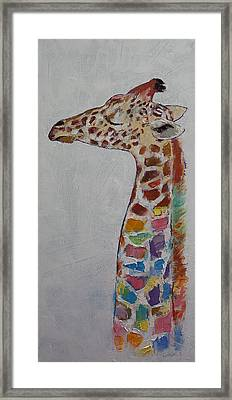 Giraffe Framed Print by Michael Creese