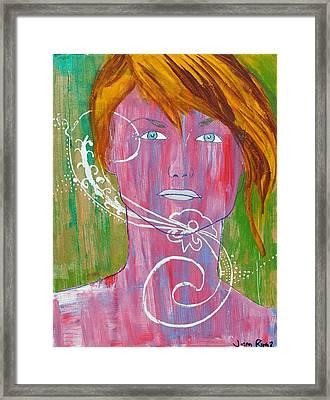Girl 13 Framed Print by Josean Rivera