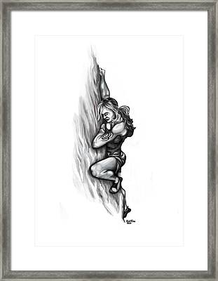 Girl Climber Framed Print by Rick Ritchie