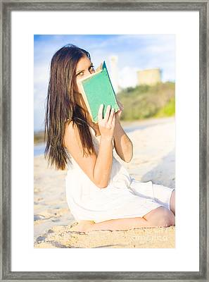 Girl Holding Book Framed Print by Jorgo Photography - Wall Art Gallery