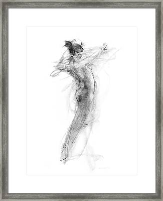Girl In Movement Framed Print by Christopher Williams