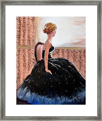 Girl In The Sequin Gown Framed Print by Gary Smith