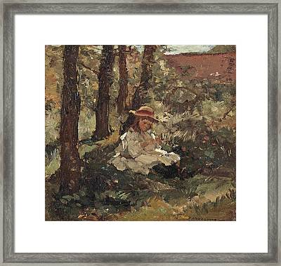 Girl In The Shade Framed Print by MotionAge Designs