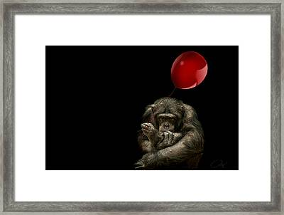 Girl With Red Balloon Framed Print by Paul Neville