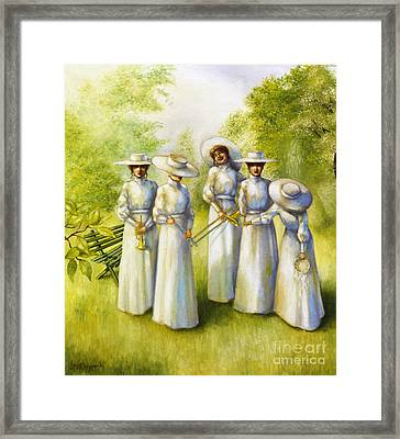 Girls In The Band Framed Print by Jane Whiting Chrzanoska
