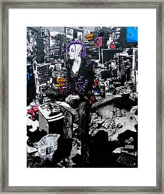 Girls In The Naked Girl Business Mandy Framed Print by Zak Smith