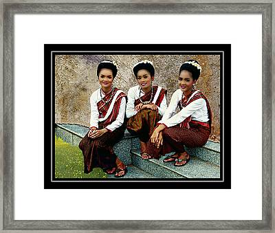 Girls Of Isaan Framed Print by Ian Gledhill