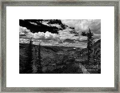 Giron Valley - Bw Framed Print by Al Bourassa