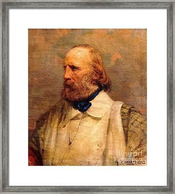 Giuseppe Garibaldi Framed Print by Pg Reproductions