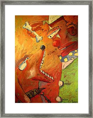 Give A Dog A Bone  This Old Man Framed Print by Charlie Spear