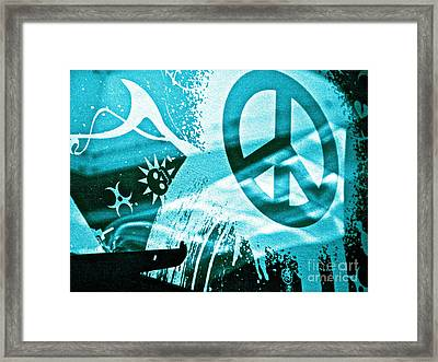 Give Peace A Shirt Framed Print by Chuck Taylor