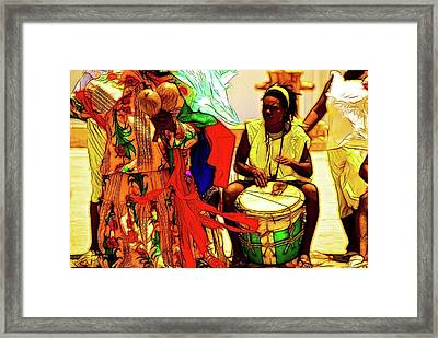 Give The Drummer Some Framed Print by David Coleman
