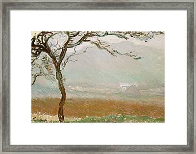 Giverny Countryside Framed Print by Claude Monet