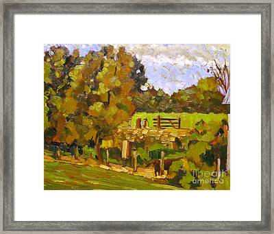 Giving The Past To Grass Framed Print by Charlie Spear