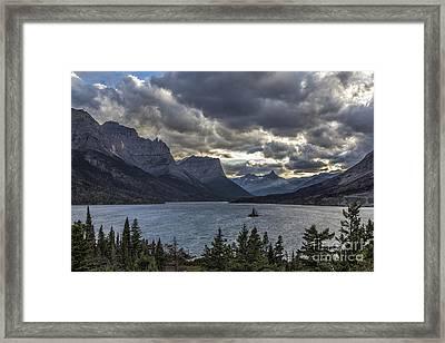 Glacier - Wild Goose Island Framed Print by Jemmy Archer