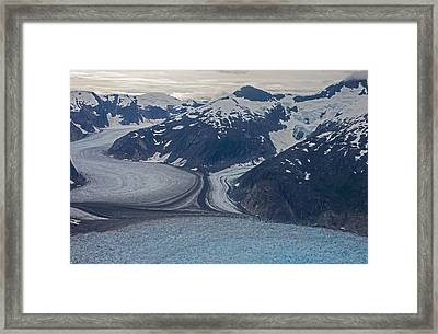 Glacial Curves Framed Print by Mike Reid