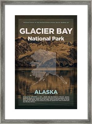 Glacier Bay National Park In Alaska Travel Poster Series Of National Parks Number 22 Framed Print by Design Turnpike