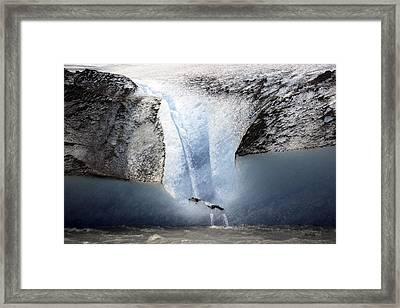 Glacier Calving - Alaska Framed Print by Madeline Ellis