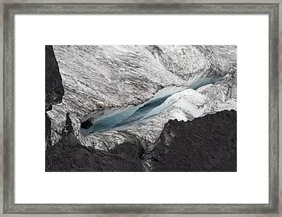 glacier Iceland Framed Print by Ronald Jansen