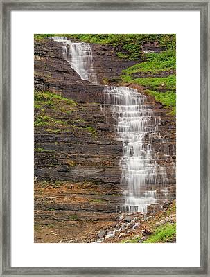 Glacier Melt Framed Print by Loree Johnson