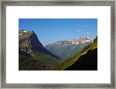 Glacier National Park Mt - View From Going To The Sun Road Framed Print by Christine Till