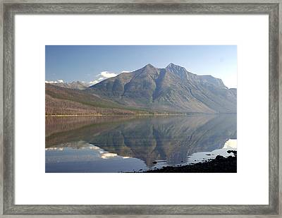 Glacier Reflection1 Framed Print by Marty Koch
