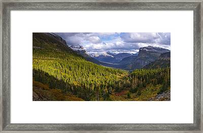 Glacier Storm Framed Print by Chad Dutson
