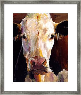 Gladys The Cow Framed Print by Cari Humphry