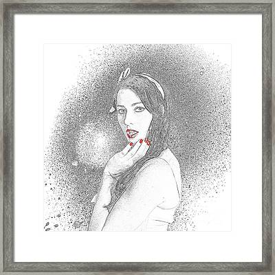 Glamour Art Pin Up Framed Print by Jorgo Photography - Wall Art Gallery