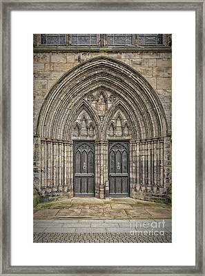 Glasgow Cathedral Doors Framed Print by Antony McAulay