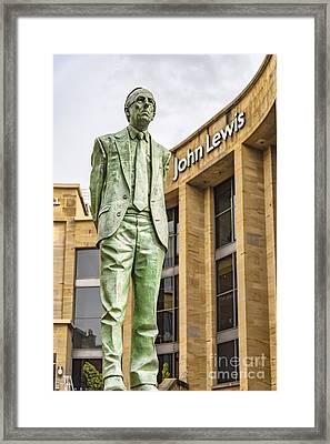 Glasgow Donald Dewar Statue Framed Print by Antony McAulay