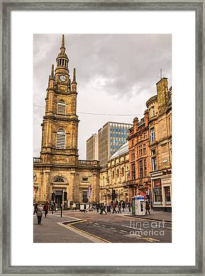 Glasgow Street Scene Framed Print by Antony McAulay