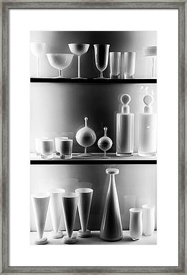 Glass Art Framed Print by Aileen Mozug